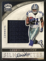 Ezekiel Elliott 2016 Crown Royale Jumbo Rookie Silhouette Jerseys #36 RC at PristineAuction.com
