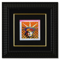 "Peter Max Signed ""Liberty Head XI"" Limited Edition 19x19 Custom Framed Lithograph #697/700 at PristineAuction.com"