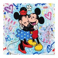 """Jozza Signed """"Hello Dream"""" 48x48 Original Mixed Media on Canvas at PristineAuction.com"""