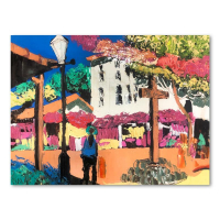 "Paul Blaine Henrie Signed ""Afternoon on Olivera St"" 30x40 Original Painting on Canvas at PristineAuction.com"