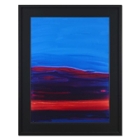 "Wyland Signed ""Red Sky"" 58x46 Original Painting on Board at PristineAuction.com"