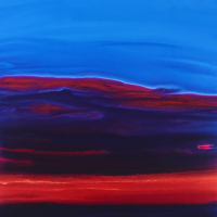 """Wyland Signed """"Red Sky"""" 58x46 Original Painting on Board at PristineAuction.com"""