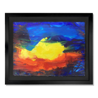 "Wyland Signed ""Light, Color In Motion"" 30x37 Custom Framed Original Watercolor Painting at PristineAuction.com"
