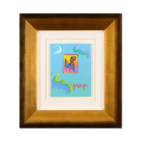 "Peter Max Signed ""Love"" 21x24 Custom Framed One-Of-A-Kind Acrylic Mixed Media at PristineAuction.com"