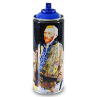 "Mr. Brainwash Signed ""Van Gogh (Cyan)"" Limited Edition Hand Painted Spray Can #125/150 with Thumbprint at PristineAuction.com"