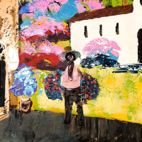 """Paul Blaine Henrie Signed """"Memories of Mexico"""" 40x60 Original Painting on Canvas at PristineAuction.com"""