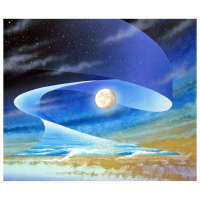"""Ken Shotwell Signed """"Earth, Sea, & Sky"""" 18x22 Original Panting on Board at PristineAuction.com"""