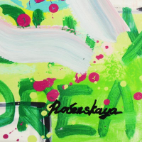 "Nastya Rovenskaya Signed ""Muhammad Ali"" 31x36 Custom Framed Unique Mixed Media at PristineAuction.com"