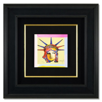 "Peter Max Signed ""Liberty Head X"" Limited Edition 20x19 Custom Framed Lithograph #698/700 at PristineAuction.com"