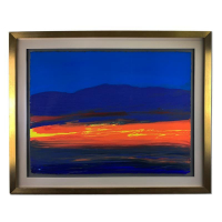 "Wyland Signed ""Endless Dreams"" 37x30 Custom Framed Original Painting at PristineAuction.com"