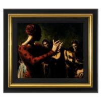 "Fabian Perez Signed ""Study Tablado Flamenco V"" 20x23 Custom Framed Hand Textured Limited Edition Giclee on Board at PristineAuction.com"