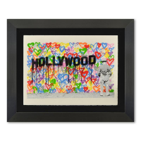 "Mr. Brainwash Signed ""Hollywood"" Limited Edition 40x33 Custom Framed Silk Screen #17/125 at PristineAuction.com"