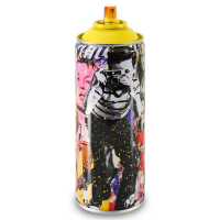 """Mr. Brainwash Signed """"Smile - Full (Yellow)"""" Limited Edition Hand Painted Spray Can #125/200 with Thumbprint at PristineAuction.com"""