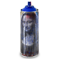 """Mr. Brainwash Signed """"Mona Lisa (Cyan)"""" Limited Edition Hand Painted Spray Can #125/150 with Thumbprint at PristineAuction.com"""