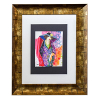 "Patricia Govezensky Signed ""Laura"" 25x21 Custom Framed Original Mixed Media at PristineAuction.com"