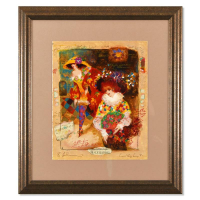 Alexander Galtchansky & Tanya Wissotzky Signed Limited Edition 22x26 Custom Framed Serigraph #3/490 at PristineAuction.com