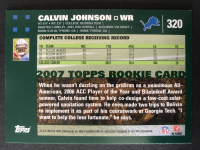 Calvin Johnson 2007 Topps #320 RC at PristineAuction.com