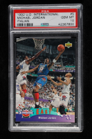 Michael Jordan 1992-93 Upper Deck International Italian #5 All Star (PSA 10) at PristineAuction.com