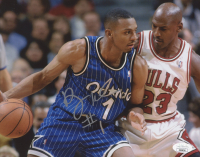 Penny Hardaway Signed Magic 8x10 Photo (JSA COA) at PristineAuction.com