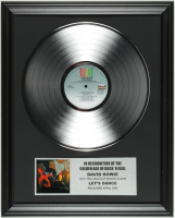 """David Bowie """"Let's Dance"""" 16x20 Custom Framed Record Album Display at PristineAuction.com"""