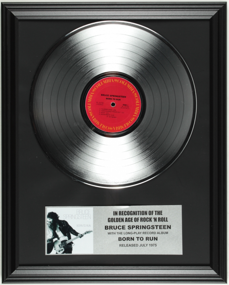 """Bruce Springsteen """"Born to Run"""" 16x20 Custom Framed Record Album Display at PristineAuction.com"""