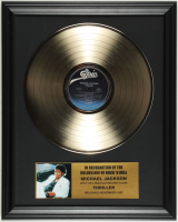 "Michael Jackson ""Thriller"" 16x20 Custom Framed Record Album Display at PristineAuction.com"