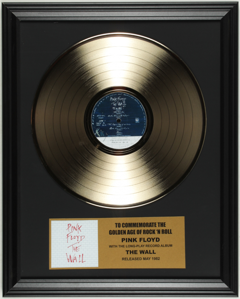 """Pink Floyd """"The Wall"""" 16x20 Custom Framed Record Album Display at PristineAuction.com"""