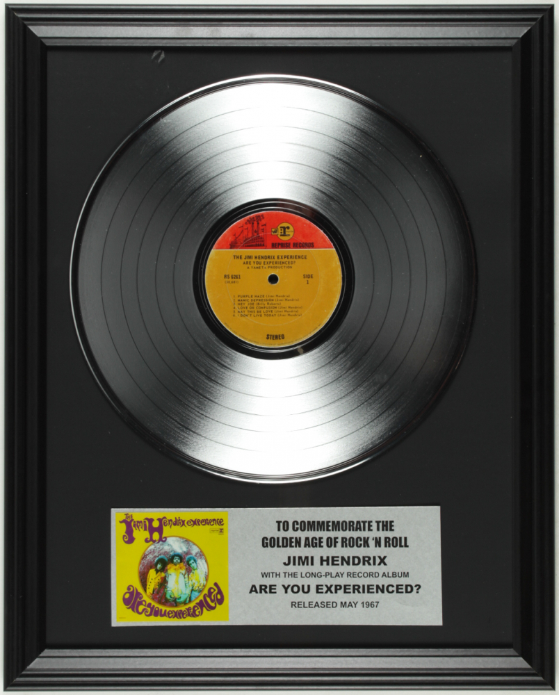 "Jimi Hendrix ""Are You Experienced?"" 16x20 Custom Framed Record Album Display at PristineAuction.com"