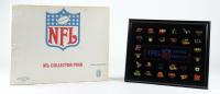 Vintage LE 1985 NFL Collectors 12x15 Custom Framed Pin Set Display (See Description) at PristineAuction.com
