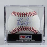 Nolan Ryan Signed OML Baseball With Display Case (PSA COA - Graded 10) at PristineAuction.com