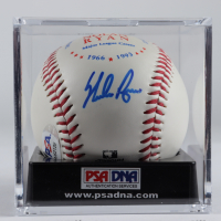 Nolan Ryan Signed Major League Career Baseball With Display Case (PSA COA - Graded 10) at PristineAuction.com