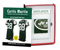 CURTIS MARTIN 2005 NY JETS GAME WORN JERSEY MYSTERY SWATCH BOX! at PristineAuction.com