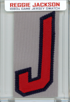 REGGIE JACKSON 1980s ANGELS GAME WORN JERSEY MYSTERY SWATCH BOX! at PristineAuction.com