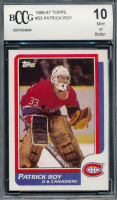 Patrick Roy 1986-87 Topps #53 RC (BCCG 10) at PristineAuction.com