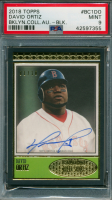 David Ortiz 2018 Topps Brooklyn Collection Autographs Black #BC1DO (PSA 9) at PristineAuction.com