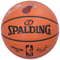 Dwyane Wade Signed Official NBA Game Ball Series Heat Logo Basketball (Fanatics Hologram) at PristineAuction.com