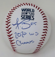 "Dustin May Signed 2020 World Series Baseball Inscribed ""2020 WS Champs"" (Fanatics Hologram) at PristineAuction.com"
