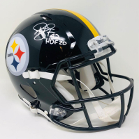 """Troy Polamalu Signed Steelers Full-Size Authentic On-Field Speed Helmet Inscribed """"HOF 20"""" (Fanatics Hologram) at PristineAuction.com"""