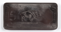 5 Troy Ounce .999 Fine Titanium Bullion Bar at PristineAuction.com