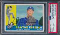 Clayton Kershaw Signed 2009 Topps Heritage #343 (PSA Encapsulated) at PristineAuction.com