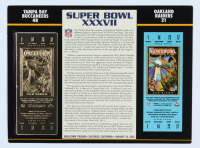 2003 Commemorative Super Bowl XXXVII Card with Ticket: Buccaneers vs Raiders at PristineAuction.com