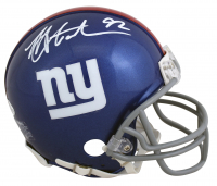 Michael Strahan Signed Giants Mini Helmet (Beckett COA) at PristineAuction.com