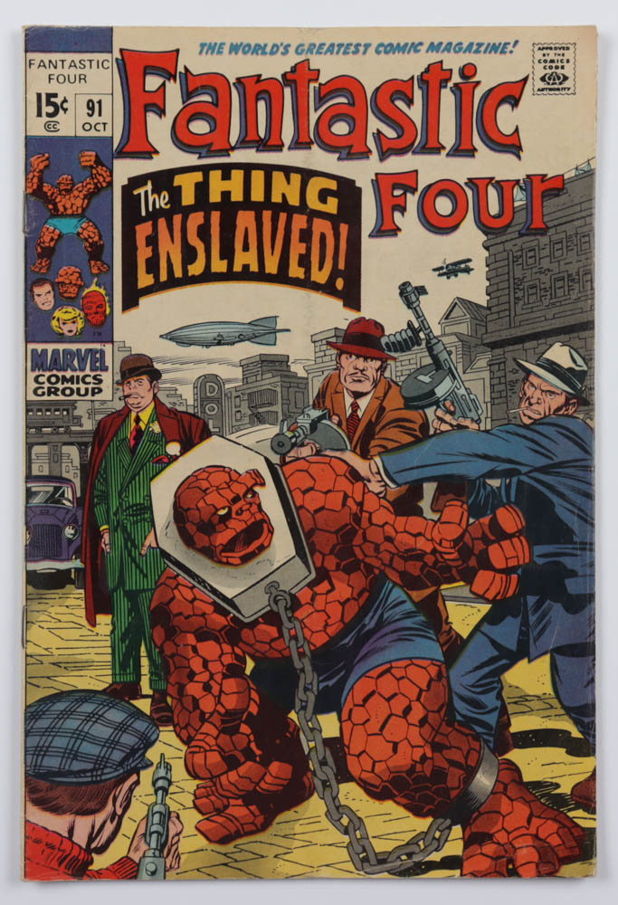 """1969 """"Fantastic Four"""" Issue #91 Marvel Comic Book at PristineAuction.com"""