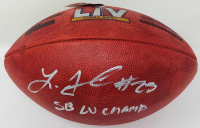 "Leonard Fournette Signed NFL ""The Duke"" Super Bowl LV Game Ball Inscribed ""SB LV Champ"" (Fanatics Hologram) at PristineAuction.com"