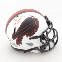 Taron Johnson Signed Bills Lunar Eclipse Alternate Speed Mini-Helmet (Beckett COA) at PristineAuction.com