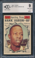 Hank Aaron 1961 Topps #577 All-Star (BCCG 9) at PristineAuction.com