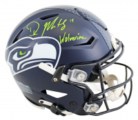 "DK Metcalf Signed Seahawks Full-Size Authentic On-Field SpeedFlex Helmet Inscribed ""Wolverine"" (Beckett COA) at PristineAuction.com"
