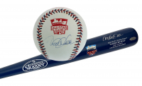 Set of (2) Derek Jeter Signed 2014 All-Star Game Items with Louisville Slugger Bat & Baseball (Steiner COA & MLB Authentication Hologram) at PristineAuction.com