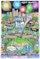 "Charles Fazzino Signed Dodgers World Champions ""Go Dodger Blue"" 13x16 LE Artist Enhanced 3-D Pop Art 2020 Print Display (Museum Editions COA) at PristineAuction.com"