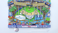 """Charles Fazzino Signed Dodgers World Champions """"Go Dodger Blue"""" 13x16 LE Artist Enhanced 3-D Pop Art 2020 Print Display (Museum Editions COA) at PristineAuction.com"""